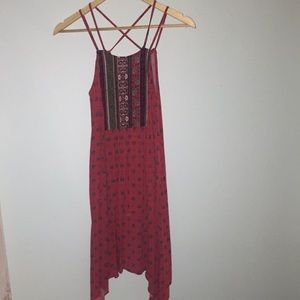 Bohemian Red Summer Dress